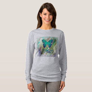 Chic Tropical  Butterfly Ladies Tee Shirt