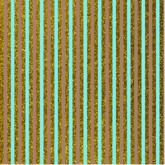 Chic Turquoise Gold Stripes Glitter Photo Print Cut Out