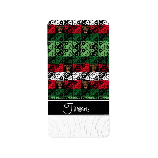 Chic Ugly Holiday Sweater Gift Labels