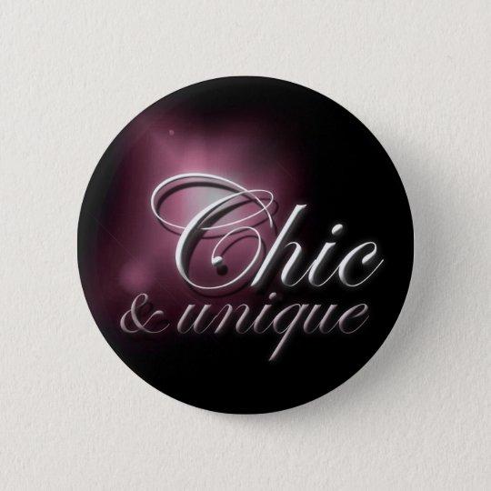"""""""Chic & unique"""" slogan badge"""