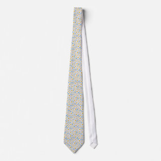 Chic Unisex Necktie: Daisies on Blue Tie