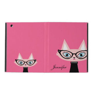 Chic Vintage Cat iPad 2/3/4 Powis Case - Pink Cover For iPad
