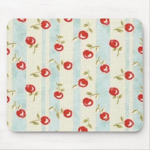 Chic Vintage CHERRIES Fabric Mouse Pad