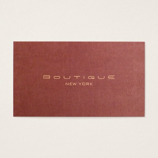 Chic Vintage Fashion Boutique Business Card