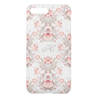 Chic Vintage Floral Pattern damask Monogram C 1 iPhone 8 Plus/7 Plus Case