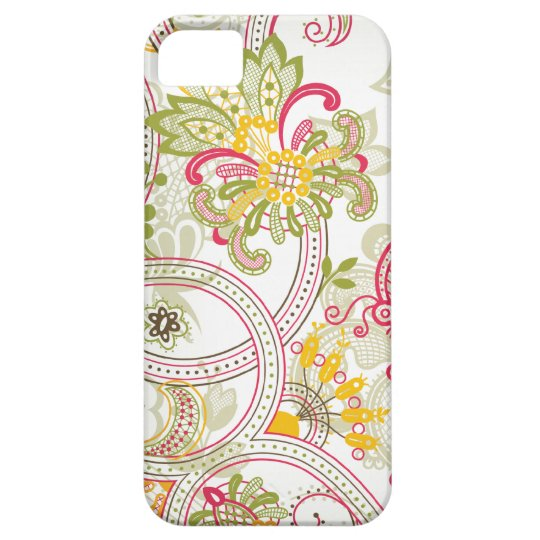 Chic vintage floral swirl paisley iphone 5 case