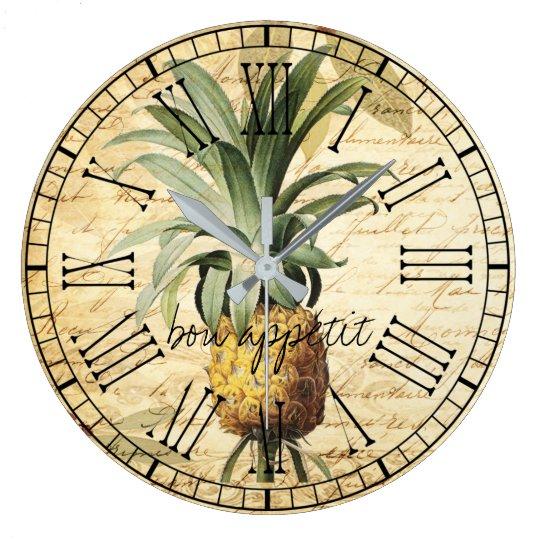 Chic Vintage French Pineapple bon apatit rustic Large