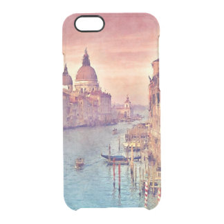 Chic Vintage Italy Venice Canal Pastel Watercolor Clear iPhone 6/6S Case