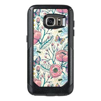 Chic Vintage Pink Rose Flower OtterBox Samsung Galaxy S7 Case