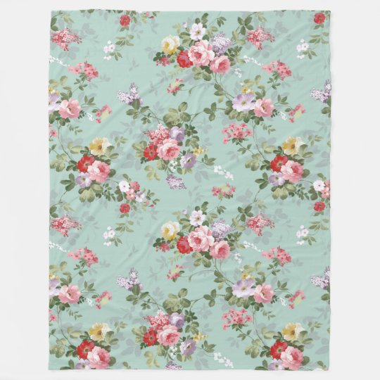 Chic vintage pretty pink red roses floral pattern