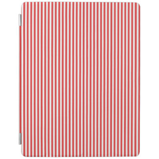 Chic Vintage Red White Stripes Pattern iPad Cover