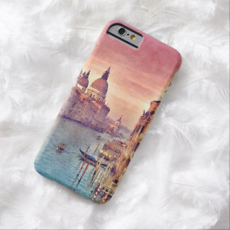 Chic Vintage Venice Canal Pastel Watercolor Art Barely There iPhone 6 Case