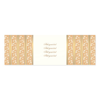 chic,wall paper,champagne,gold,floral,stripes,mode pack of skinny business cards