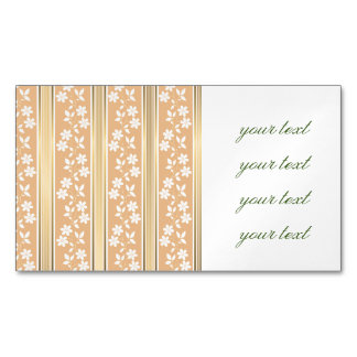chic,wall paper,champagne,gold,floral,stripes,mode magnetic business cards