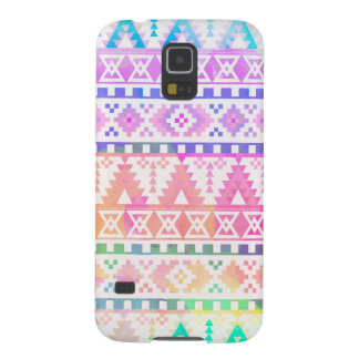 Chic Watercolor Aztec Tribal Rainbow Pattern Galaxy S5 Case