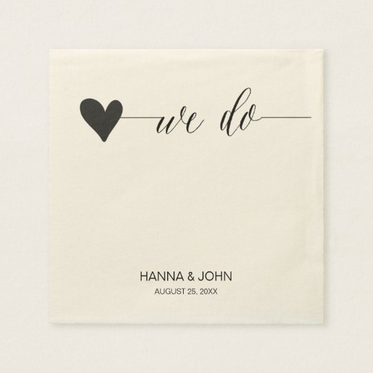 chic wedding paper napkins | calligraphy serviette