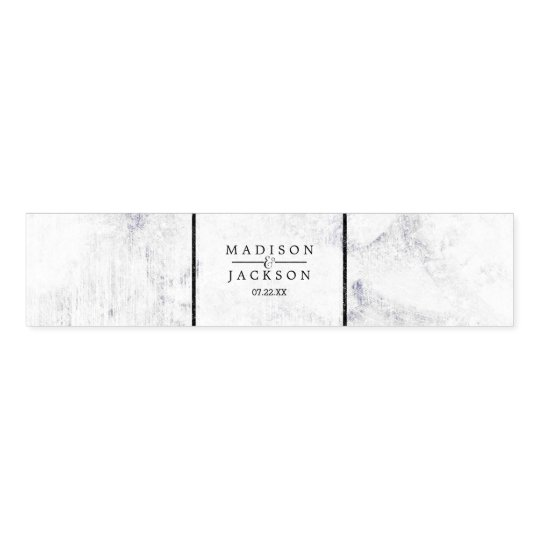 Chic White & Grey Marble Wedding Monogram Napkin