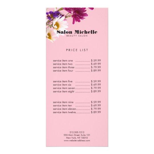 Chic Wildflowers and Minimalist Pink Beauty Salon Rack