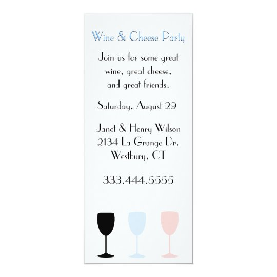 Chic Wine and Cheese Party Invitation