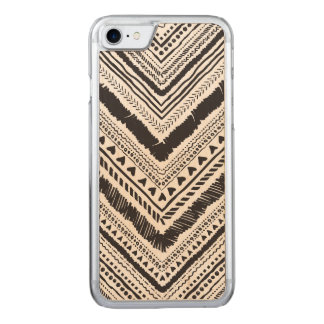 Chic with tribal boho ornament pattern carved iPhone 8/7 case