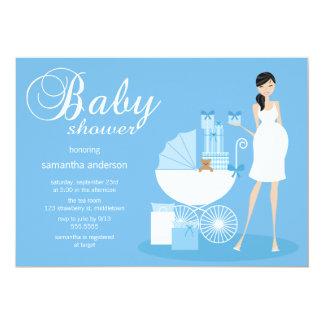 Chic Woman Baby Shower Invitation - Boy