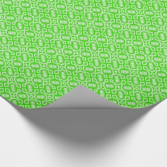 CHIC WRAPPING PAPER_162 GREEN/WHITE GEOMETRIC WRAPPING PAPER
