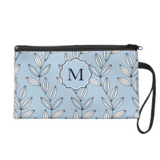CHIC WRISTLE_GIRLY 21 BLUE FLORAL/VINES WRISTLETS