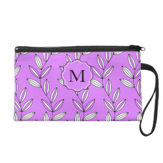 CHIC WRISTLE_GIRLY 27 PINK FLORAL/VINES WRISTLET CLUTCH