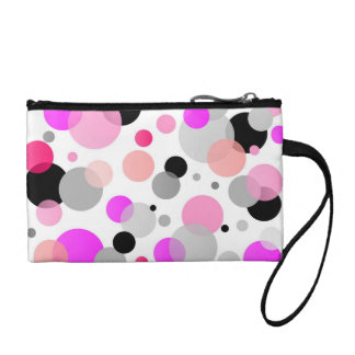 Chic Wristlet with Pink Polka Dots
