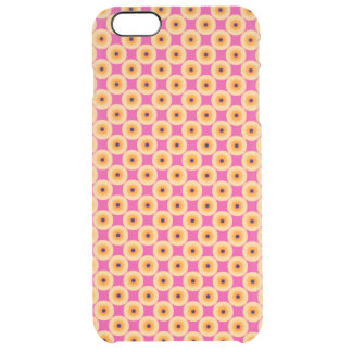 Chic Yellow Pink Polka Dot Clear iPhone 6 Plus Case