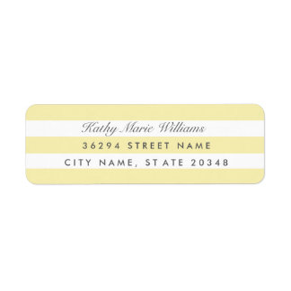 Chic Yellow Striped Address Labels