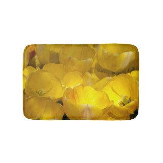 Chic Yellow Tulips Photo Bathmat Bath Mats