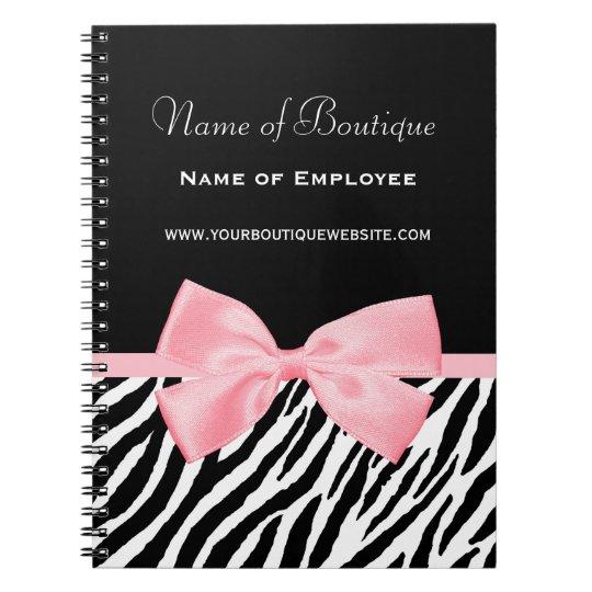 Chic Zebra Print Boutique Light True Pink Ribbon