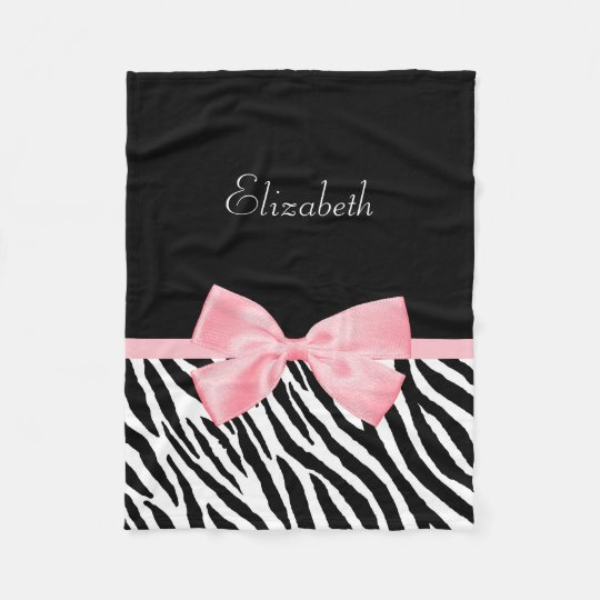 Chic Zebra Print Girly Light Pink Ribbon With