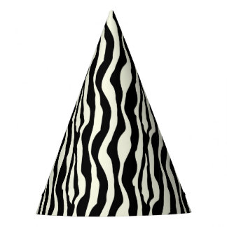 Chic Zebra Print Party Hats