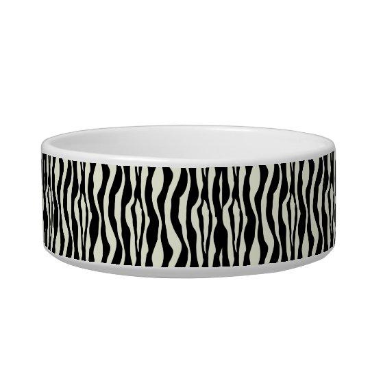 Chic Zebra Print Pearls Monogram Name Dish