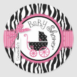 Chic Zebra Print Sticker R-PKBK-2