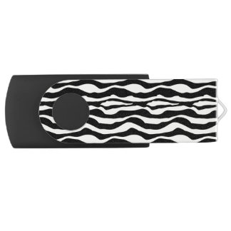 Chic Zebra Print USB Swivel USB 3.0 Flash Drive
