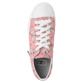 CHIC ZIPZ_GIRLY 04 BLUSH/WHITE FLORAL VINES PRINTED SHOES