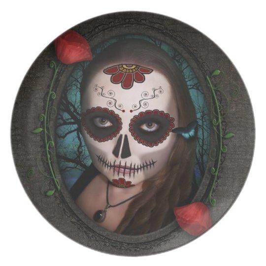Chica De La Muerta Plate