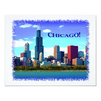 Chicago 11 Cm X 14 Cm Invitation Card