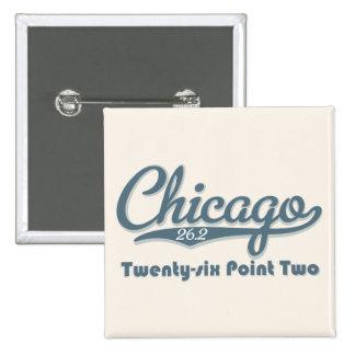 Chicago 26 2 Blue Marathon Button