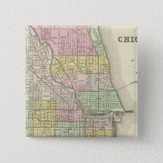 Chicago 2 15 cm square badge