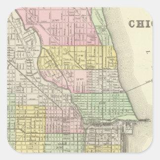Chicago 2 square sticker