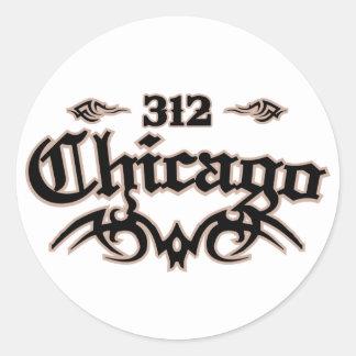 Chicago 312 classic round sticker