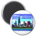 Chicago 6 Cm Round Magnet