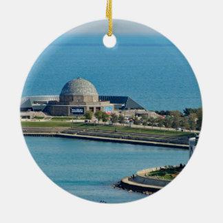 Chicago Adler Planetarium Round Ceramic Decoration