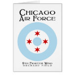 Chicago Air Force - 9th Fighter Wing Greeting Card