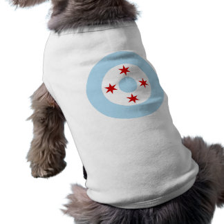 Chicago Air Force (Fighter Wing) Roundel Dog Tee Shirt