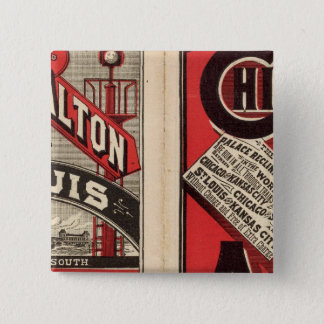 Chicago and Alton Railroad 15 Cm Square Badge